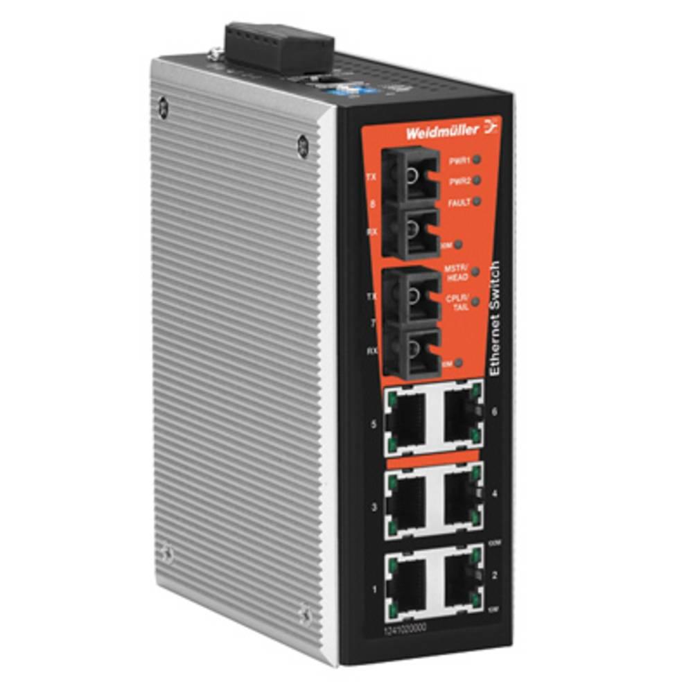 Omrežno stikalo, upravljalno Weidmüller IE-SW-VL08MT-6TX-2SCS število Ethernet vrat 6