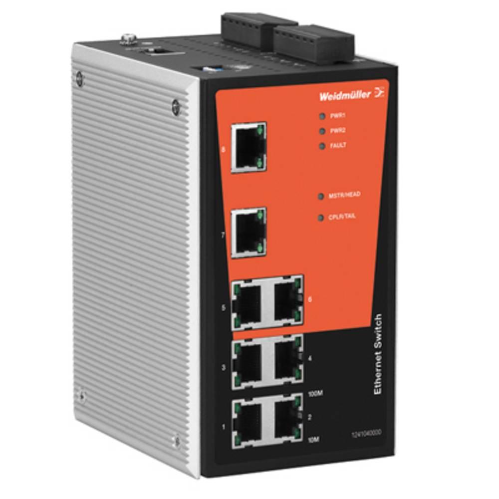 Omrežno stikalo, upravljalno Weidmüller IE-SW-PL08MT-8TX število Ethernet vrat 8