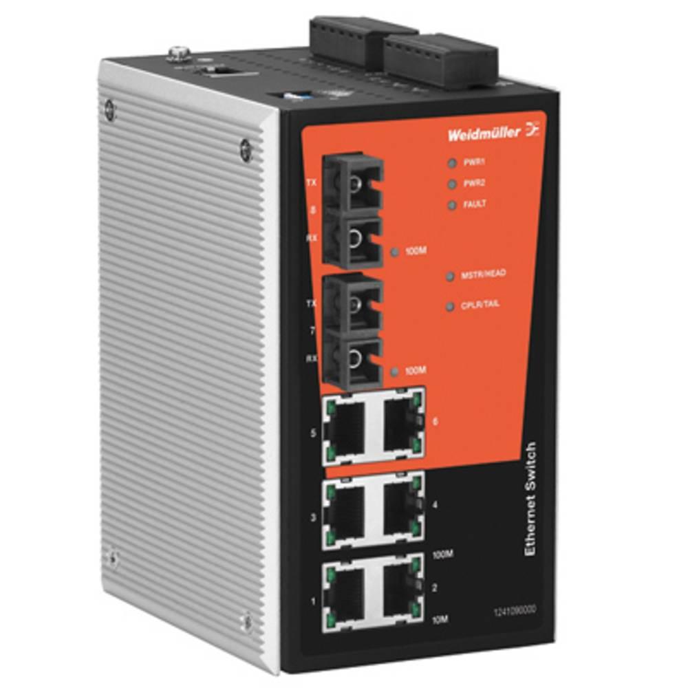 Omrežno stikalo, upravljalno Weidmüller IE-SW-PL08M-6TX-2SCS število Ethernet vrat 6