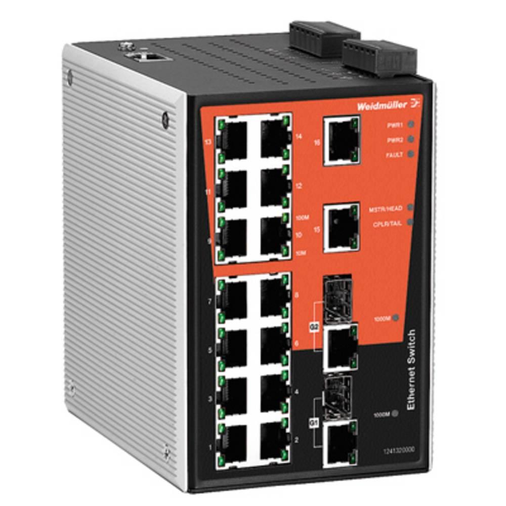 Omrežno stikalo, upravljalno Weidmüller IE-SW-PL18MT-2GC-16TX število Ethernet vrat 16