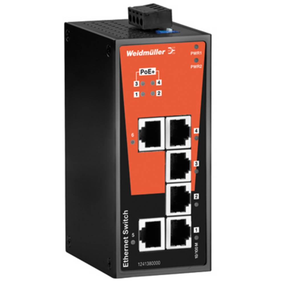 Omrežno stikalo, neupravljalno Weidmüller IE-SW-BL06T-2TX-4POE število Ethernet vrat 2