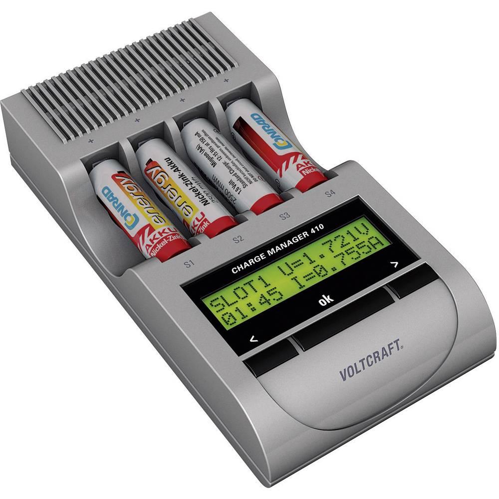 Polnilna naprava za okrogle baterije VOLTCRAFT Charge Manager CM410 Micro (AAA), Mignon (AA)
