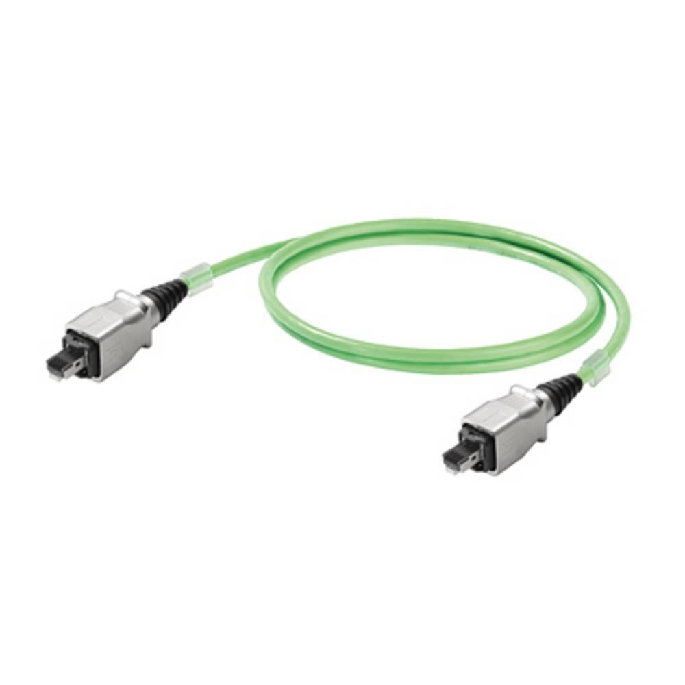 RJ45 omrežni priključni kabel CAT 5, CAT 5e S/UTP [1x RJ45-vtič - 1x RJ45-vtič] 3 m zelen negorljiv