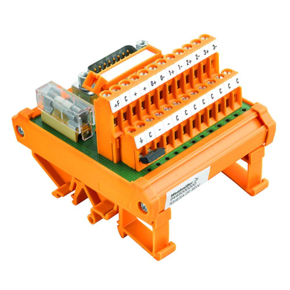 Übergabeelement (value.1292954) 1 stk Weidmüller RS 4AIO DP SD S 50, 25 V/DC, V/AC (max)