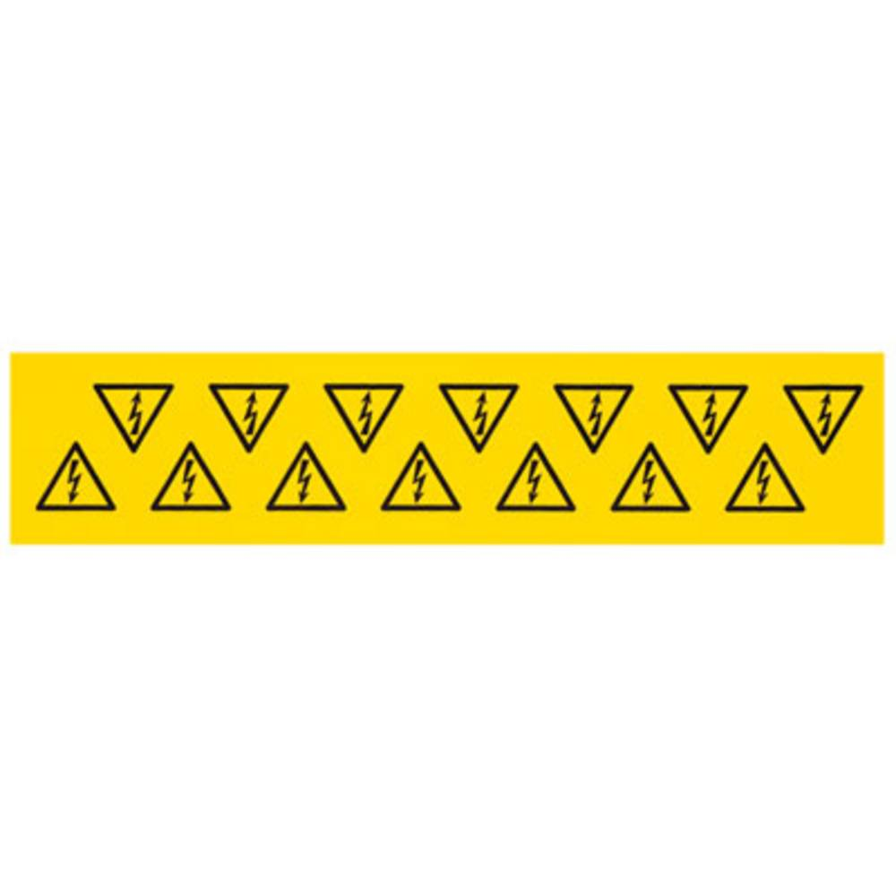 Kabelmarkier etiket Weidmüller MARKO-C.100X100X100 B/DR (1700550001) (L x B x H) 100 x 100 x 100 mm Gul 10 stk
