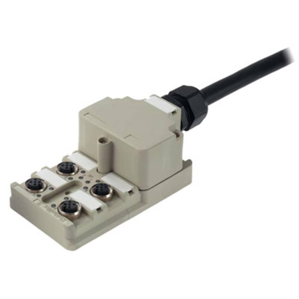 Sensor/aktorbox passiv M12-fordeler med metalgevind SAI-4-MF 5P PUR 10M 1804580000 Weidmüller 1 stk