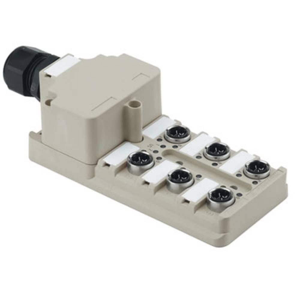 Sensor/aktorbox passiv M12-fordeler med metalgevind SAI-6-M 3P IDC 1760050000 Weidmüller 1 stk