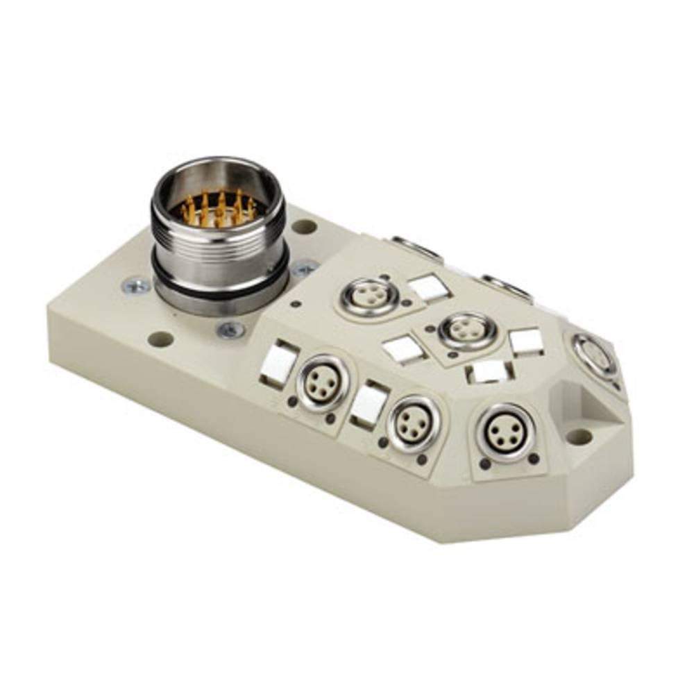Sensor/aktorbox passiv M8-fordeler med metalgevind SAI-8-M23 4P M8 1784650000 Weidmüller 1 stk
