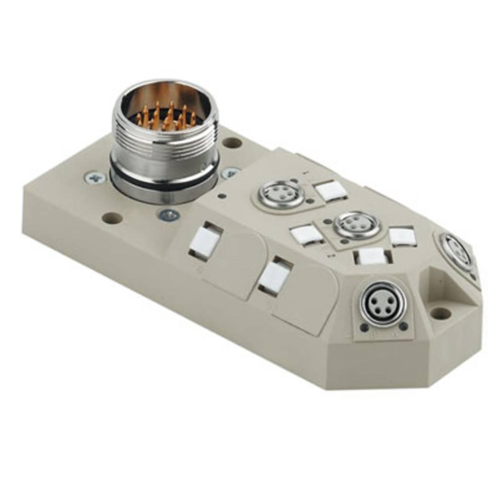 Sensor/aktorbox passiv M8-fordeler med metalgevind SAI-4-M23 4P M8 1784660000 Weidmüller 1 stk