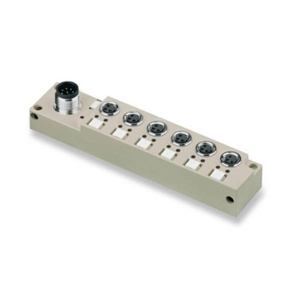 Sensor/aktorbox passiv M8-fordeler med metalgevind SAI-6-S 3P M8 L 1828730000 Weidmüller 1 stk