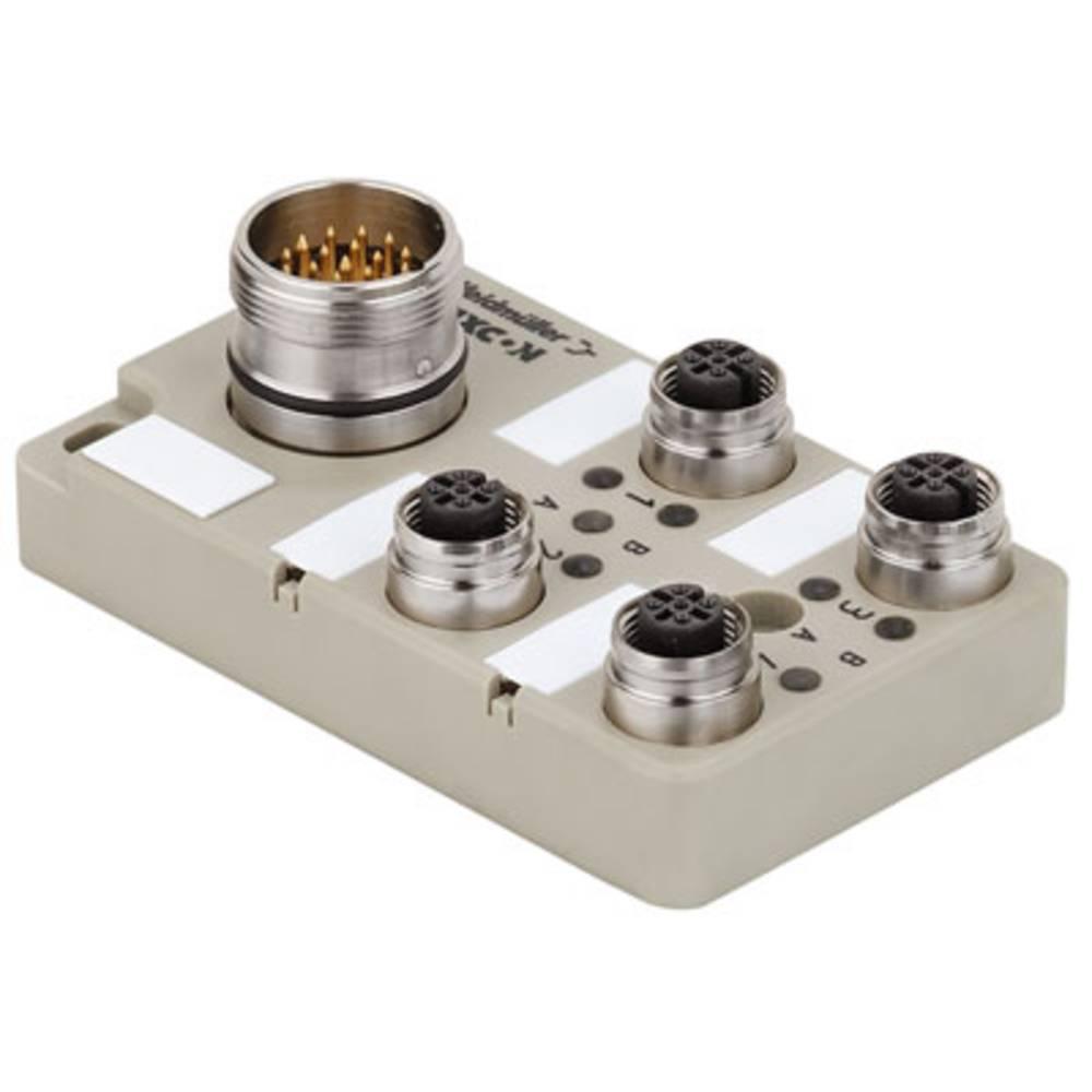 Sensor/aktorbox passiv M12-fordeler med metalgevind SAI-4-S 4P FC 1847960000 Weidmüller 1 stk