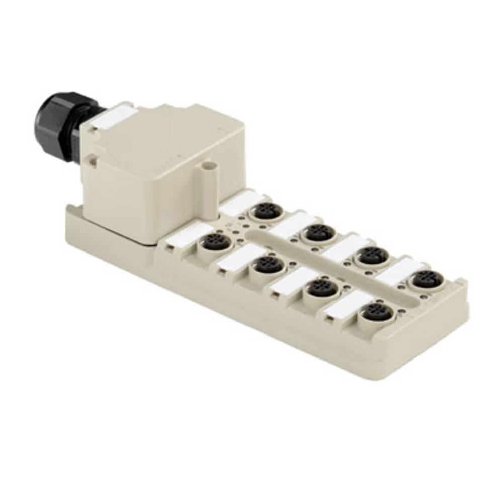 Sensor/aktorbox passiv M12-fordeler med metalgevind SAI-8-M 5P M12 NPN ECO 1892080005 Weidmüller 1 stk