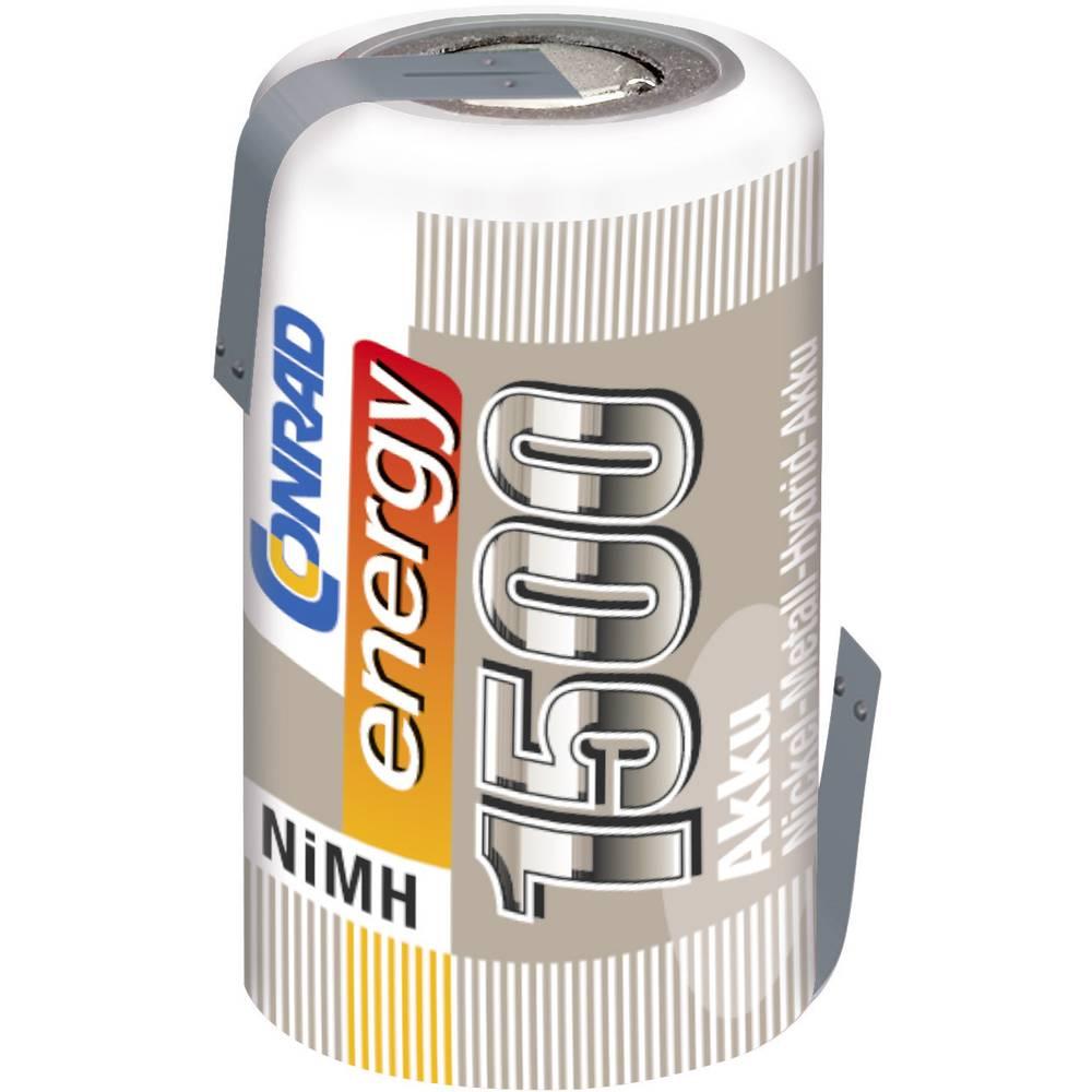 Conrad energy NiMH-akumulator2/3 AF-enojna celica 1.2 V / 1500 mAh Spajkalni priključek: