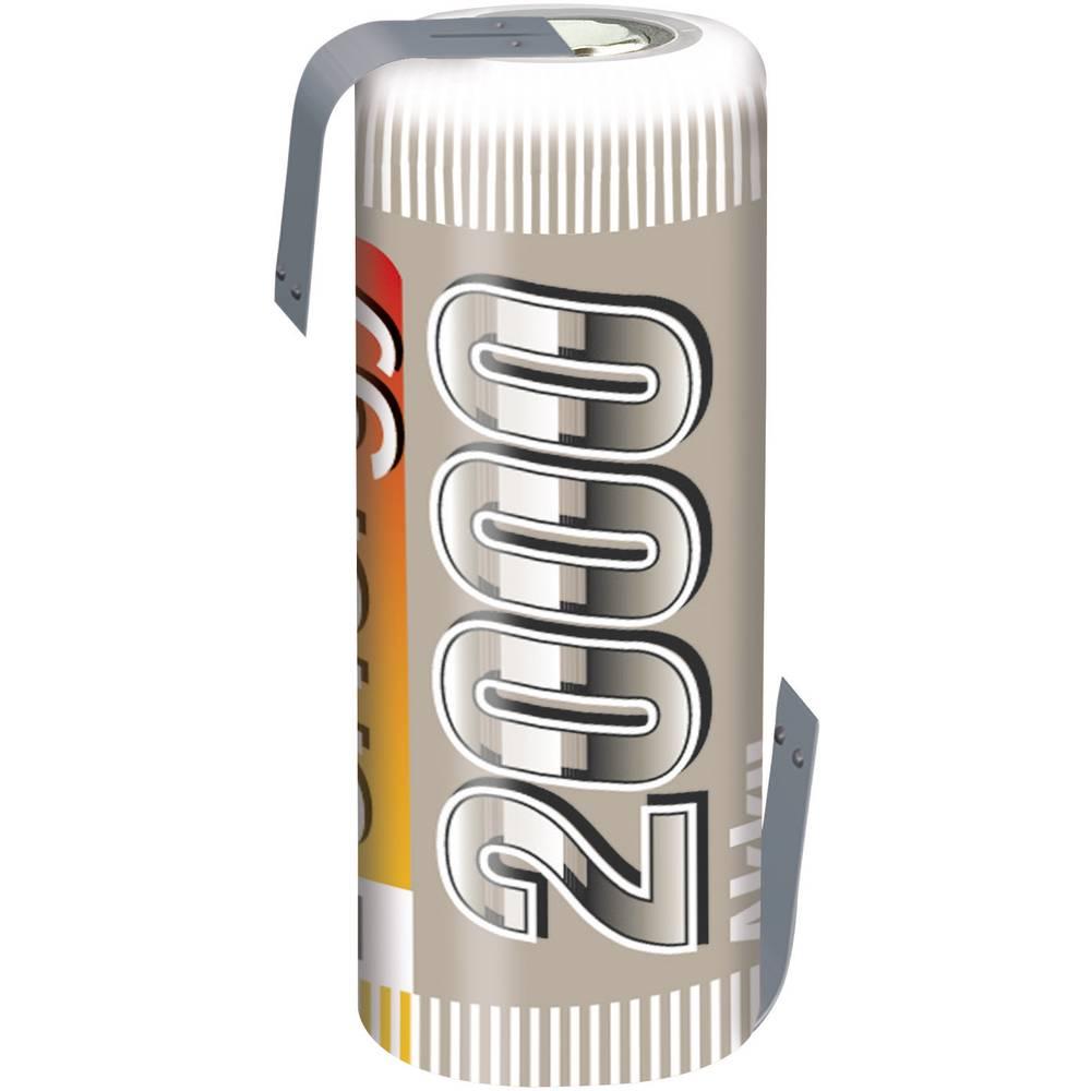 Conrad energy NiMH-akumulator4/5 AF-enojna celica 1.2 V / 2000 mAh Spajkalni priključek:
