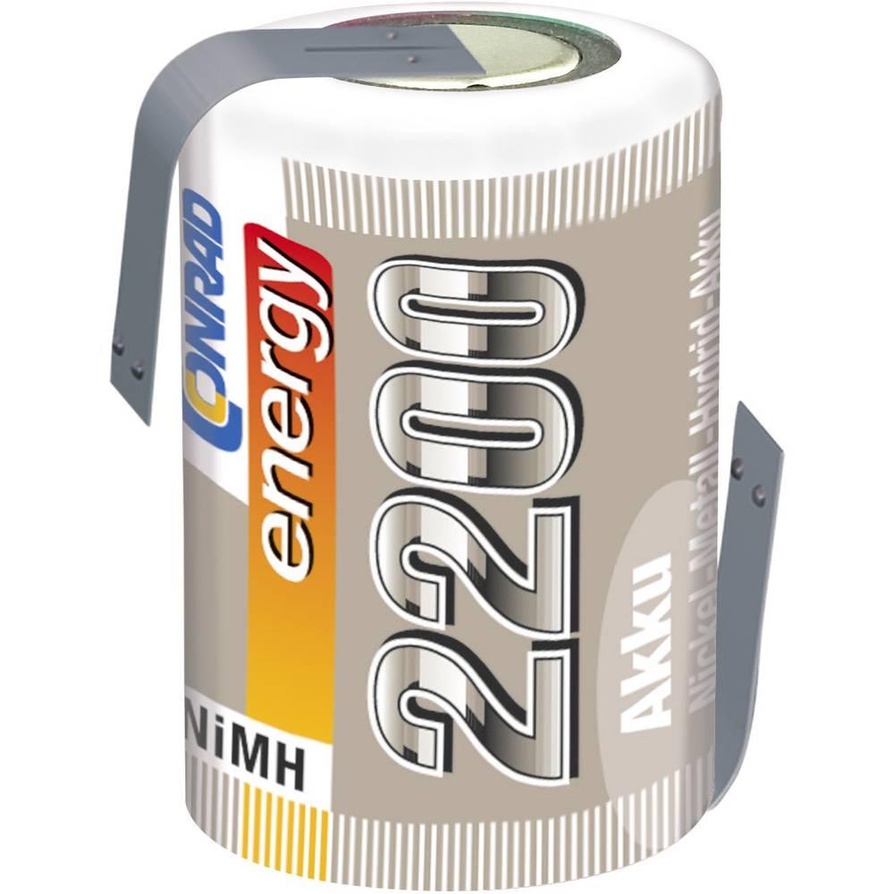 Conrad energy NiMH-akumulator4/5 Sub-C-enojna celica 1.2 V/2200 mAh Spajkalni priključe