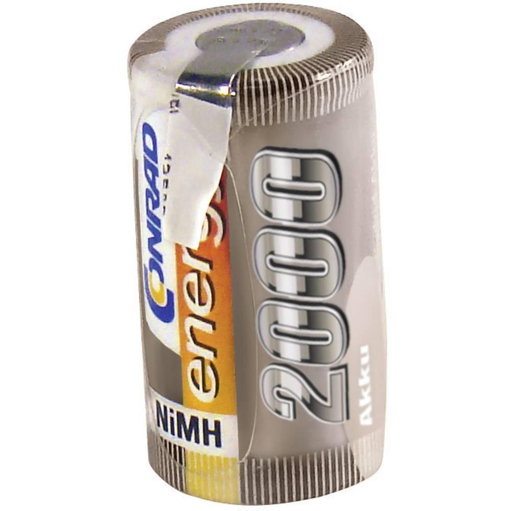 Conrad energy NiMH-akumulatorSub-C-enojna celica 1.2 V / 2000 mAh Spajkalni priključek: D