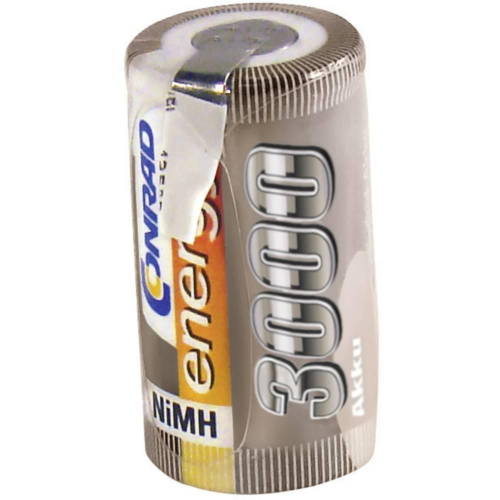 Conrad energy NiMH-akumulatorSub-C-enojna celica 1.2 V / 3000 mAh Spajkalni priključek: D