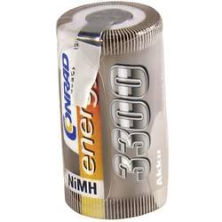 RC Batteri-cell Conrad energy NiMH Sub-C 1.2 V 3300 mAh med lödstift
