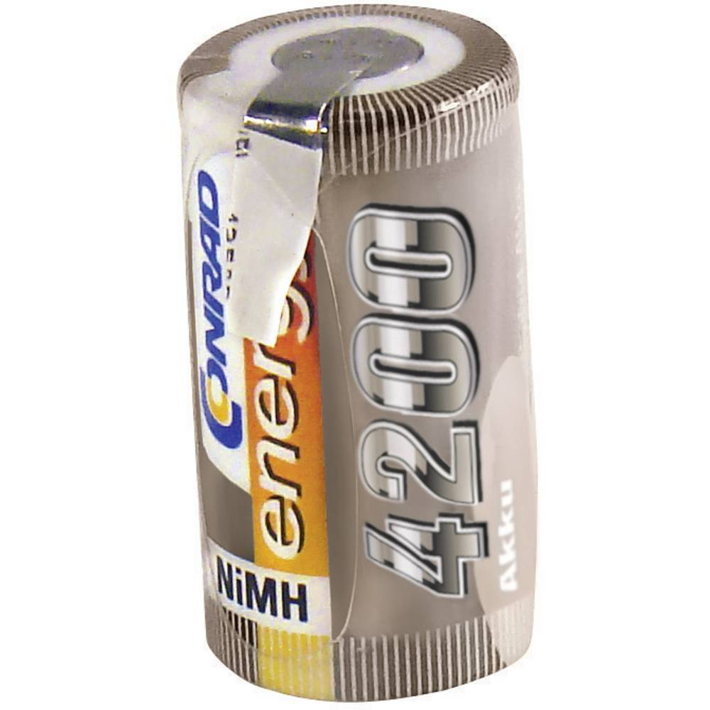 Conrad energy NiMH-akumulatorSub-C-enojna celica 1.2 V / 4200 mAh Spajkalni priključek: D