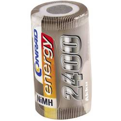 RC Batteri-cell Conrad energy NiMH Sub-C 1.2 V 2400 mAh utan lödstift