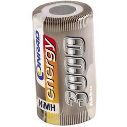 RC Batteri-cell Conrad energy NiMH Sub-C 1.2 V 3000 mAh utan lödstift