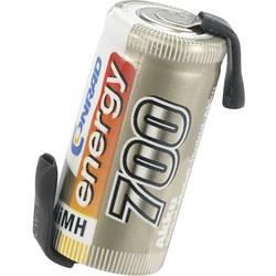 Modelbyggeri-batteri-enkeltcelle Conrad energy NiMH 2/3 AA 1.2 V 700 mAh med loddefane