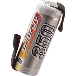 Modelbyggeri-batteri-enkeltcelle Conrad energy NiMH 2/3 AAA 1.2 V 350 mAh med loddefane