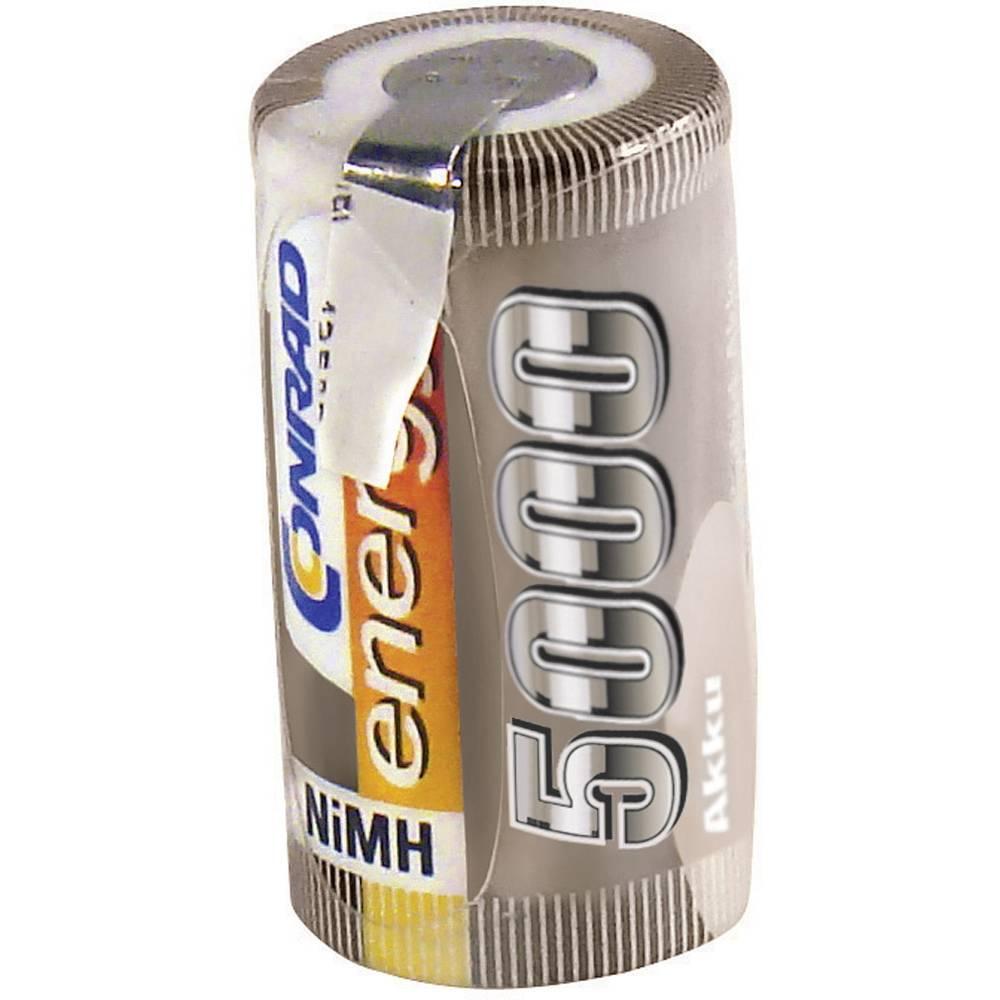 NiMh baterija za modele Conrad energy Sub-C 1.2 V 5000 mAh s lemnim zastavicama