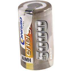 RC Batteri-cell Conrad energy NiMH Sub-C 1.2 V 5000 mAh med lödstift
