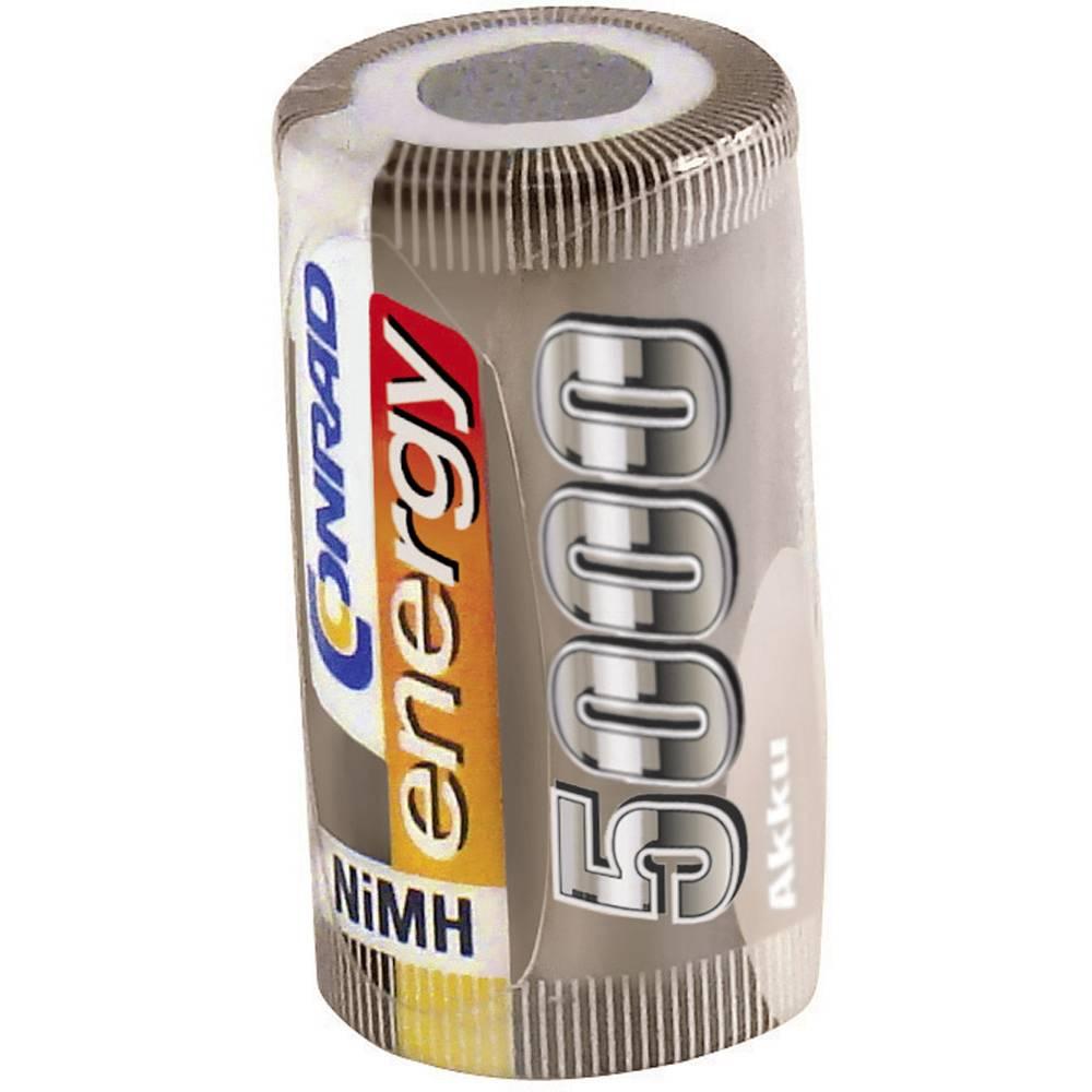 RC Batteri-cell Conrad energy NiMH Sub-C 1.2 V 5000 mAh utan lödstift