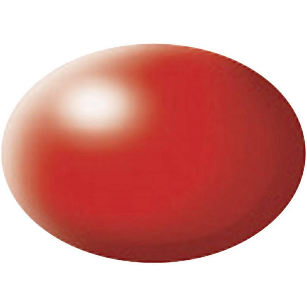 Vodna barva Revell, 36332, živo rdeča (svilnato mat), barvna koda: 332, barvna koda RAL: 3026, 18 ml posoda