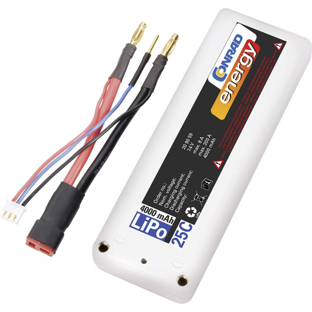 Modelarstvo - akumulatorski paket (LiPo) 7.4 V 4000 mAh 25 C Conrad energy Box Hardcase T-vtičnica