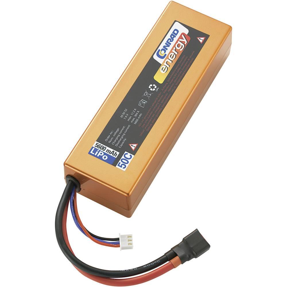 Modelarstvo - akumulatorski paket (LiPo) 7.4 V 5600 mAh 50 C Conrad energy Box Hardcase T-vtičnica