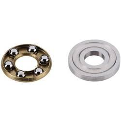 Reely Spårkullager axiell Kromstål Inre diameter: 3 mm Ytterdiameter: 8 mm Varvtal (max.): 15000 rpm