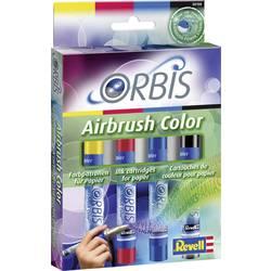 Airbrush barva Orbis, za Orbis Airbrush Power Studio, rdeča, rumena, modra, črna, 1 komplet 30100