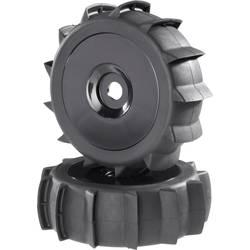 Komplet koles za modele Buggy, Reely, 1:8, profil Sand, diskasta platišča, črna, 2 kosa