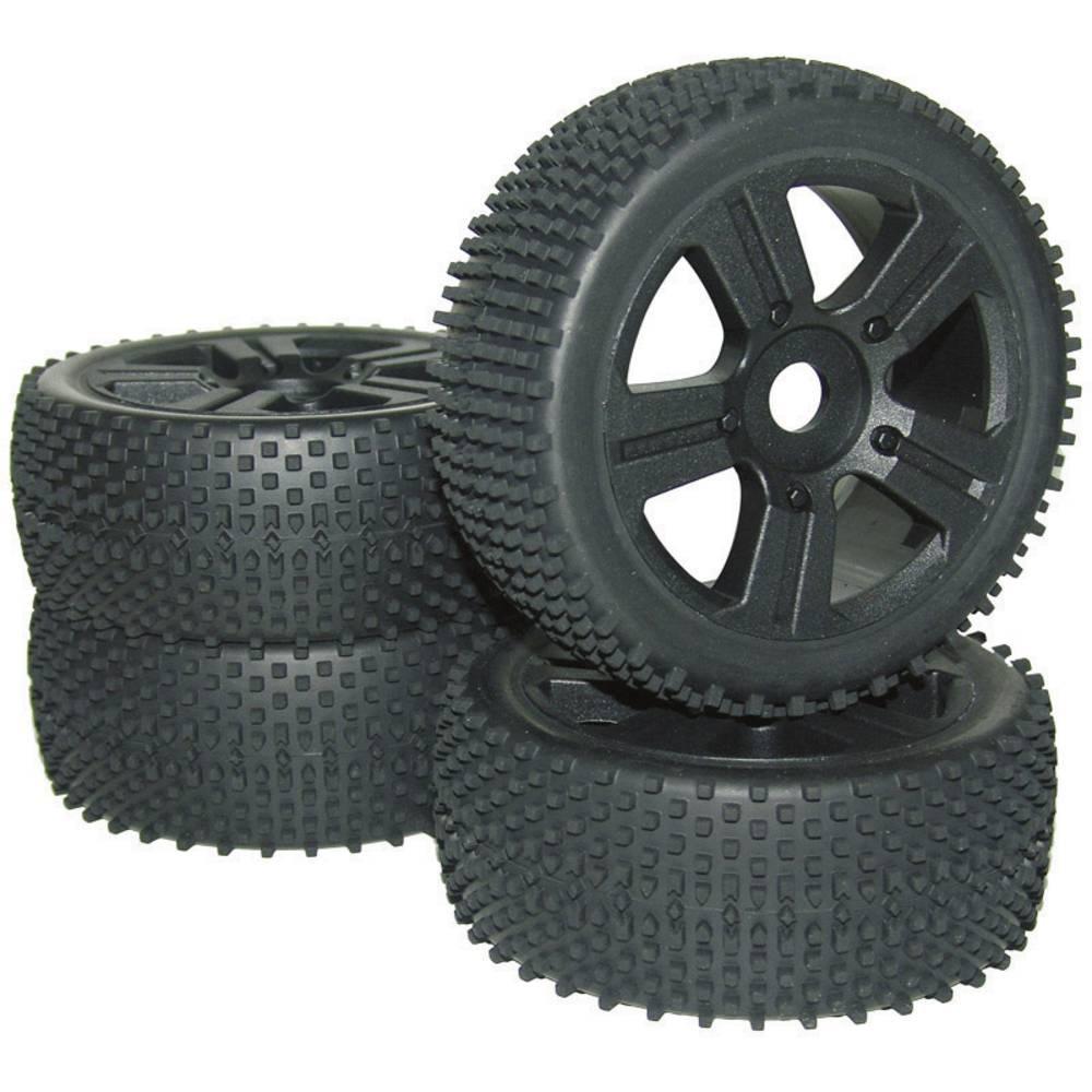 Reely 1:8 Buggy kolesa, 5-kraka črna platišča in pnevmatikekoničasti profil (D08B03NRSBA1
