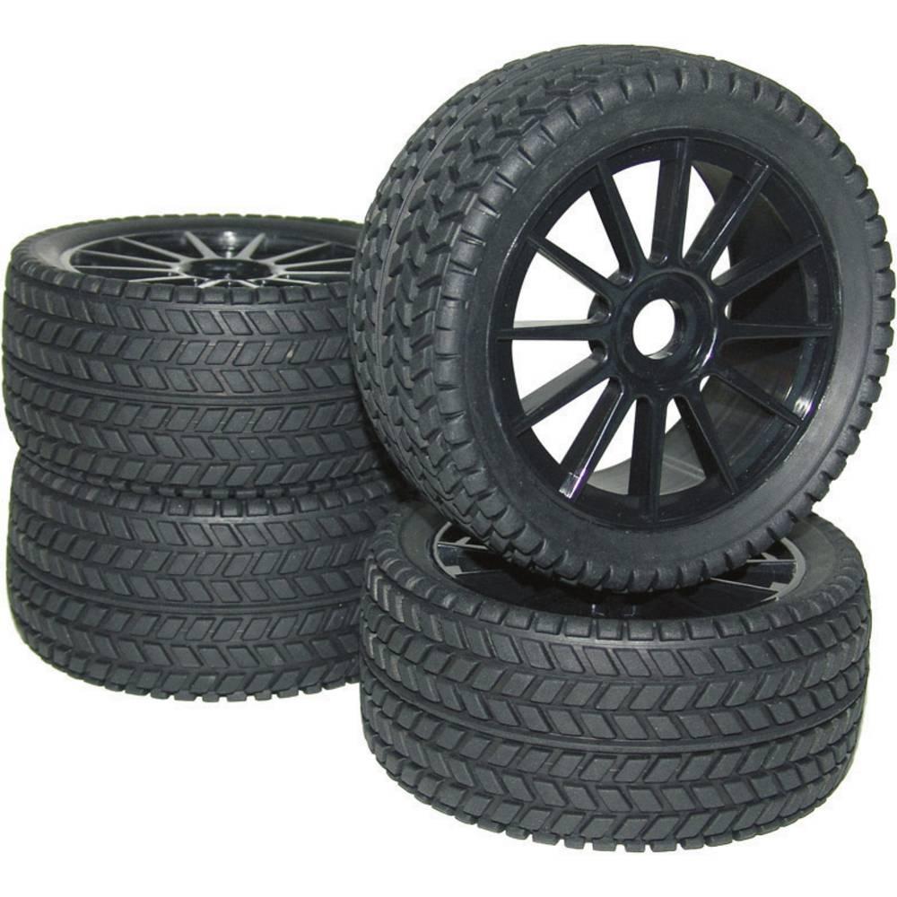Reely 1:8 Komplet kotača za buggy s 10 krakova naplatcima Crna i profilima guma (RA093 RA093SBA1