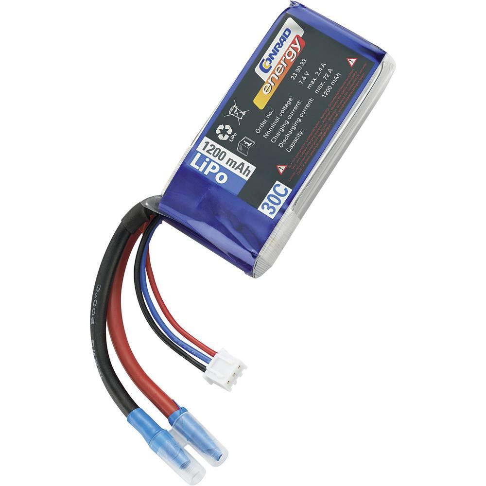Modelarstvo - akumulatorski paket (LiPo) 7.4 V 1200 mAh 30 C Conrad energy Stick odprti konci kablov