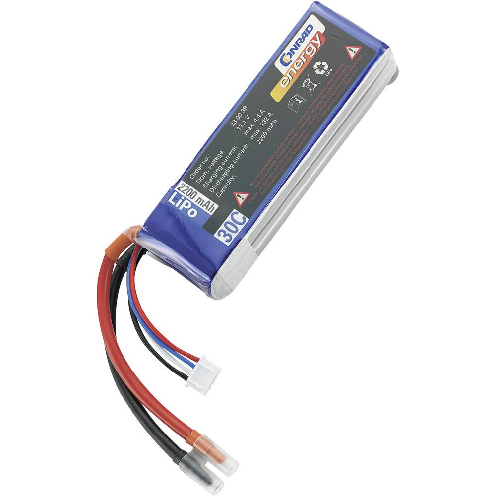 Modelarstvo - akumulatorski paket (LiPo) 11.1 V 2200 mAh 30 C Conrad energy Stick odprti konci kablov