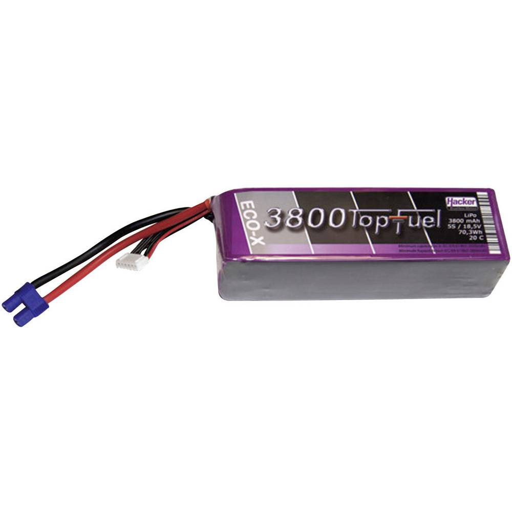 Hacker LiPo Akumulatorska baterija, serije TopFuel ECO-X 20C, 18,5 V / 3800 mAh