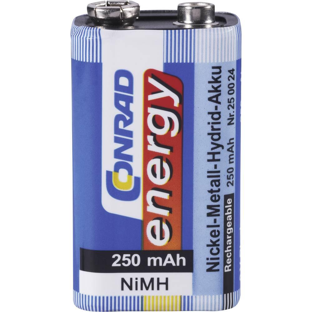 9 V Block akumulator NiMH Conrad energy 6LR61 250 mAh 9 V 1 kos