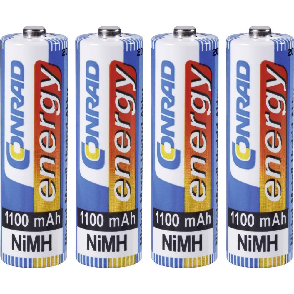 Mignon (AA) akumulator NiMH Conrad energy HR06 1100 mAh 1.2 V 4 kosi