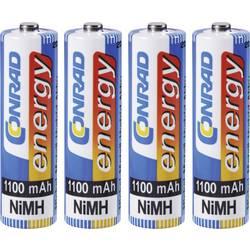 Laddbart batteri R6 (AA) NiMH Conrad energy HR06 1100 mAh 1.2 V 4 st