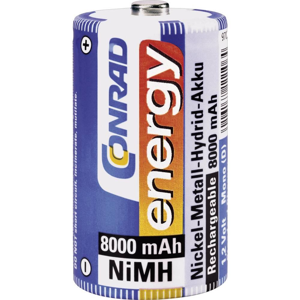 Akumulatorska baterija tipa D (Mono) NiMH Conrad energy HR20 8000 mAh 1.2 V 1 kos