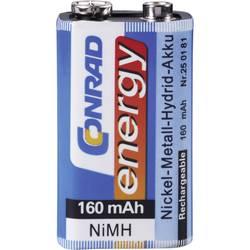 9 V blok baterija 6LR61 Conrad energy NiMH 160 mAh 9 V 1 kom.