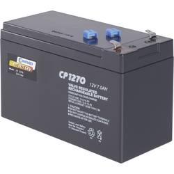 Svinčev akumulator 12 V 7 Ah Conrad energy CE12V/7Ah 250202 svinčevo-koprenast (AGM) 151 x 95 x 65 mm ploščati vtič 4.8 mm