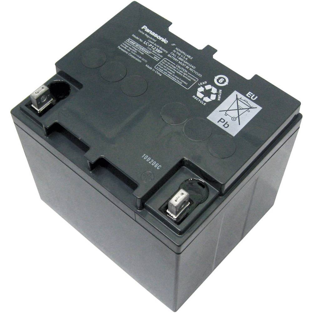 Svinčev akumulator 12 V 38 Ah Panasonic 12 V 38 Ah LC-P1238APG svinčevo-koprenast (AGM) 197 x 175 x 165 mm M5-vijačni priklop