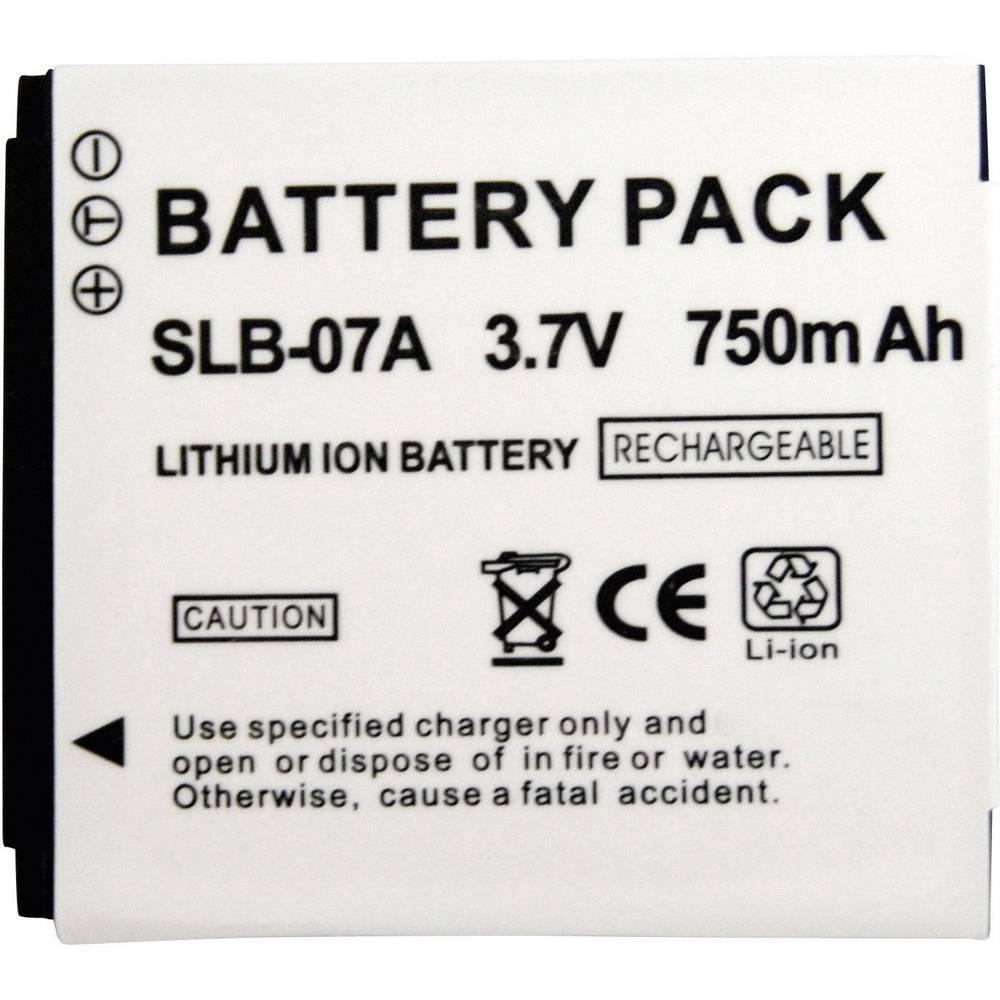 Kamera-batteri Conrad energy Erstatter original-batteri SLB-07A 3.7 V 500 mAh