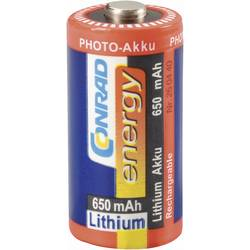 Litijev foto akumulator CR 123, RCR123, 3 V 650 mAh (Ø x V) 17 mm x 34 mm Conrad energy